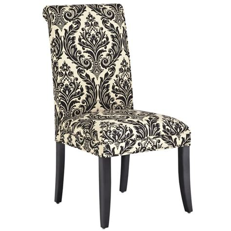 Damask Dining Chair - angela deluxe dining chair onyx damask living room
