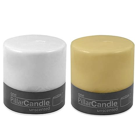 bed bath and beyond candles 4 inch x 4 inch unscented pillar candle bed bath beyond