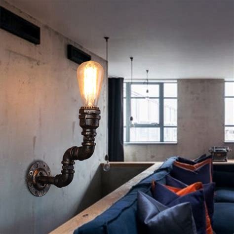 Nostalgic Home Decor ჱloft Vintage Nostalgic ツ 175 Industrial Industrial Water Pipe Edison Wall Sconce Sconce L