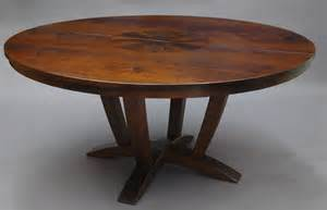 Expandable Round Dining Table For Sale Brown Polished Chestnut Wood Expandable Dining Table With