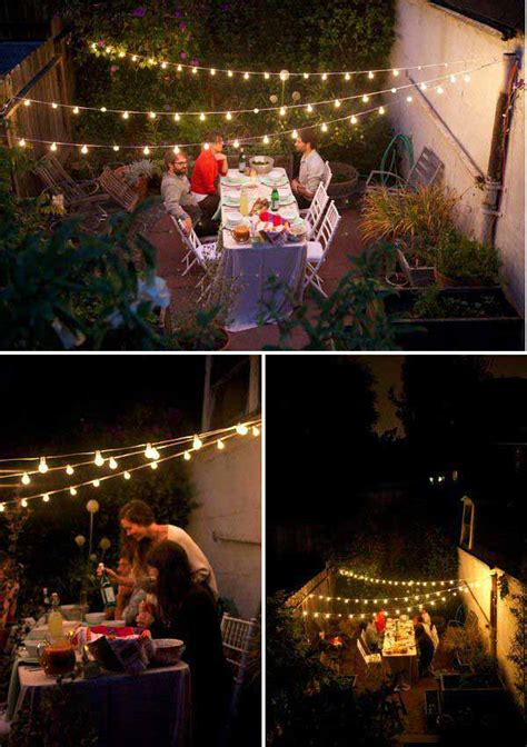 Outdoor Deck String Lighting 15 Amazing Yard And Patio String Lighting Ideas