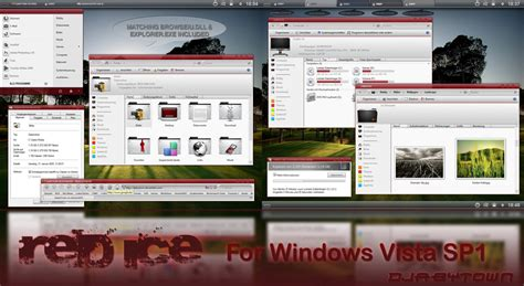 theme windows 7 visual style red ice visual style theme for windows7