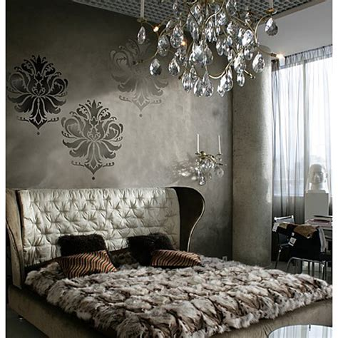 wall stencils for bedrooms damask stencils for walls classy wall stencils for diy decor