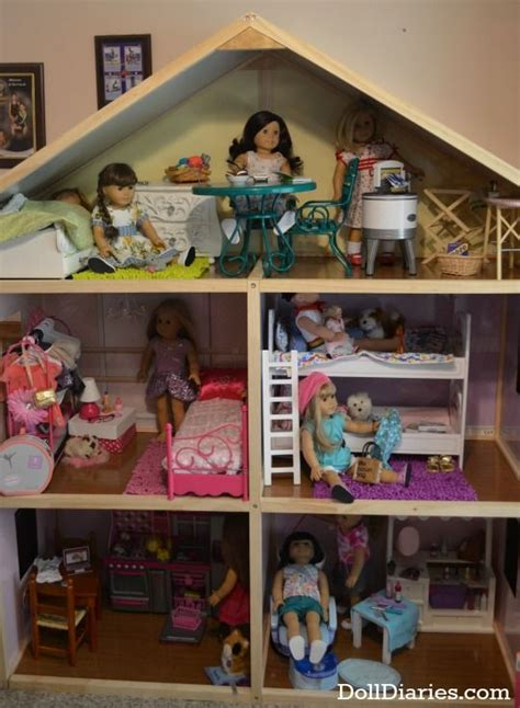 18 doll house my girls dollhouse for 18 dolls ag rooms pinterest
