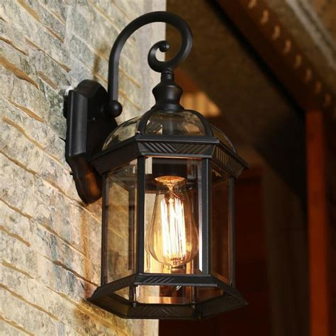 glass outdoor wall light europe led porch lights outdoor wall l black housing