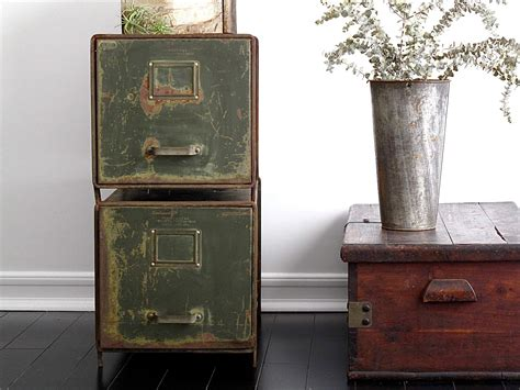Vintage Filing Cabinet Metal File Cabinets Industrial Office By Snapshotvintage