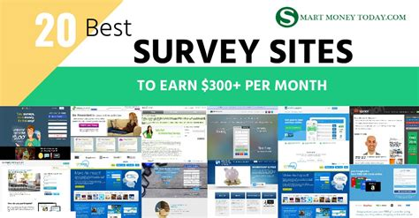 20 best survey sites to make extra money earn 300 per month smart money today - Best Survey Sites For Money