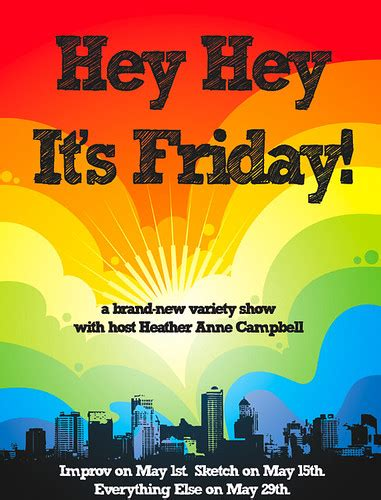 hey hey  friday poster    month  hey