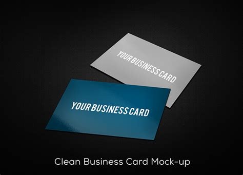 Drop Your Business Card Template by Freebie Clean Business Card Mockup Psd On Behance