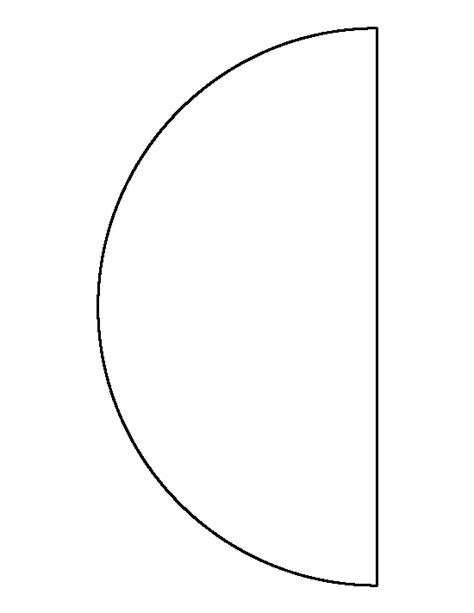 half template half circle pattern use the printable outline for crafts