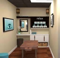 Modern massage space 3d photo rendering black cat interiors