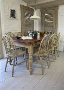 Black Shabby Chic Dining Table Rustic Shabby Chic Dining Table With 8 Wheelback Chairs