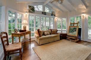 Sunroom Dining Room Ideas Cottage Living Room With Carpet Amp Exposed Beam In Bethesda