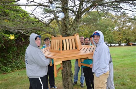 bench tree group giving back madonna heights 2016