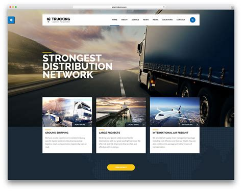 list themes for wordpress 30 top transportation logistics wordpress themes 2018