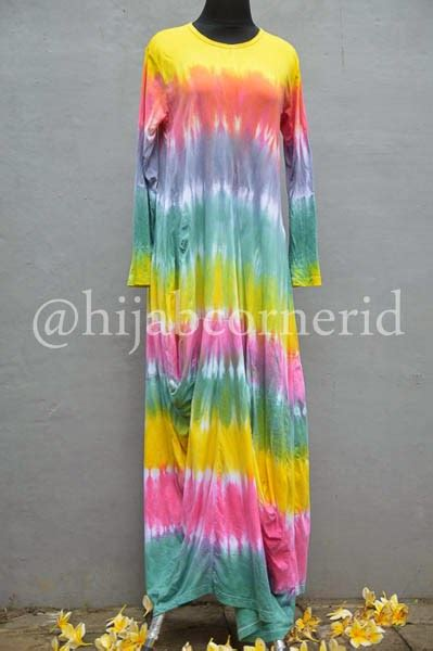 Gamis Pelangi Bali corner id gamis pelangi dress tiedye