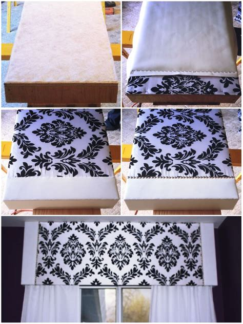 homemade curtain patterns 1000 images about diy headboard bed frame pelmet box