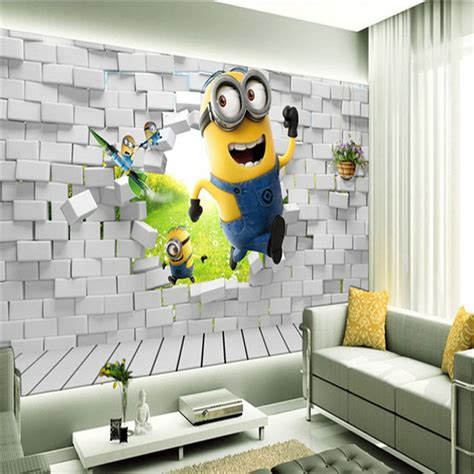 aliexpress buy custom minions wallpaper boys