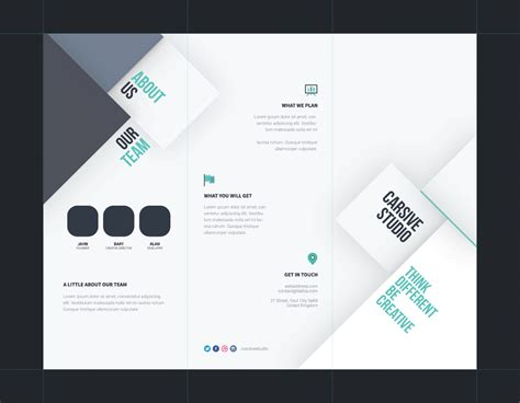 Tri Fold Brochure Template Brochure Layout Template