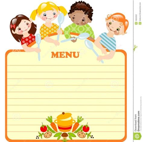 children s card templates blank menu template invitation templates