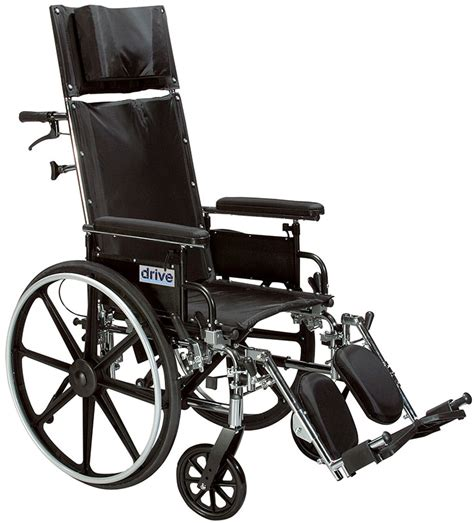 drive reclining wheelchair drive medical 12 quot reclining wheelchair viper plus