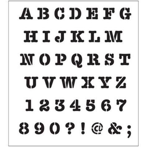folkart alphabet heavy typewriter laser printing stencil