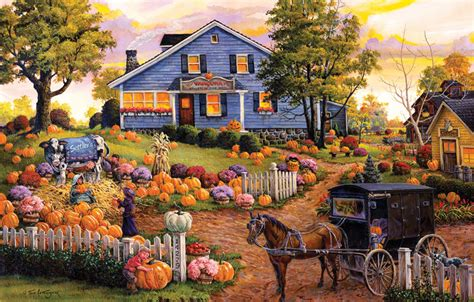 Jigsaw Puzzle 1000 Pcs The Harvest Vintage autumn harvest on the farm pictures photos and images