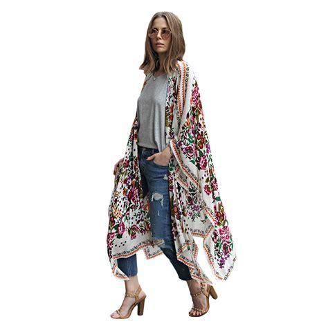 kimono jackets as a summer fashion trend for women over 60 fashion women floral print kimono cardigan summer