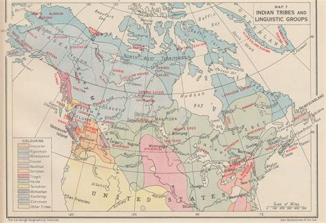 canadian map of indian tribes an historical atlas of canada