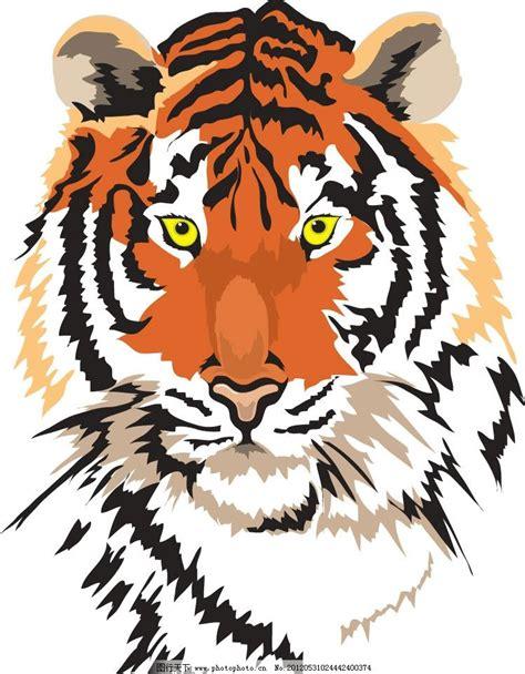 老虎手绘图片 皮皮网