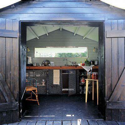shed conversion home details backyard kitchen summer