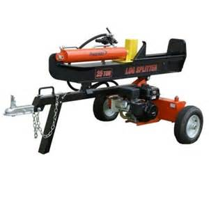 home depot log splitter powermate 208cc 25 ton gas log splitter pls20825 the