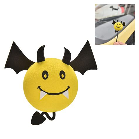 yellow devil pattern popular car antenna toppers buy cheap car antenna toppers