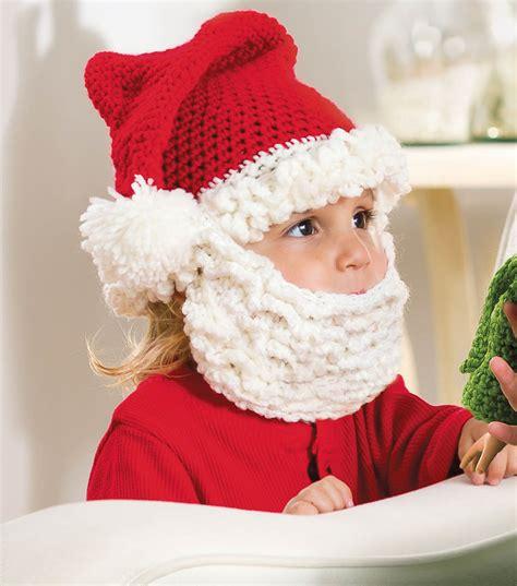 free crochet santa hat for children santa hat and beard for crochet kingdom