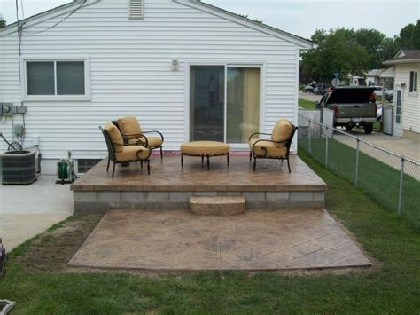 concrete patio ideas for small backyards wonderful