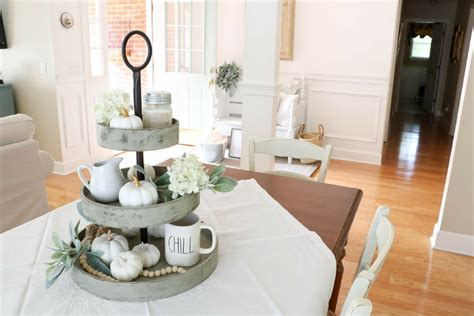 decorate   tiered wooden stand  harvest