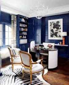 trendy office decor 10 eclectic home office ideas in cheerful blue