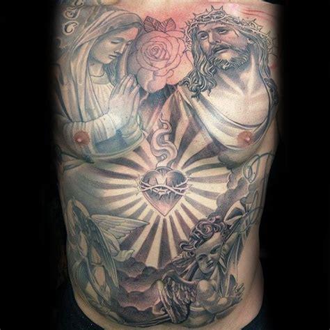 virgin mary tattoo on chest 100 jesus tattoos for men cool savior ink design ideas