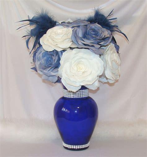 Navy Blue Wedding Centerpiece, Bridal Decor, Quinceanera, Baby Shower Decor, Bridal Shower Decor