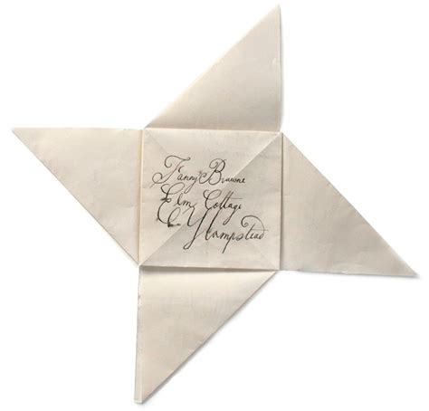 Folded Paper Letters - origami letters simple blueprint