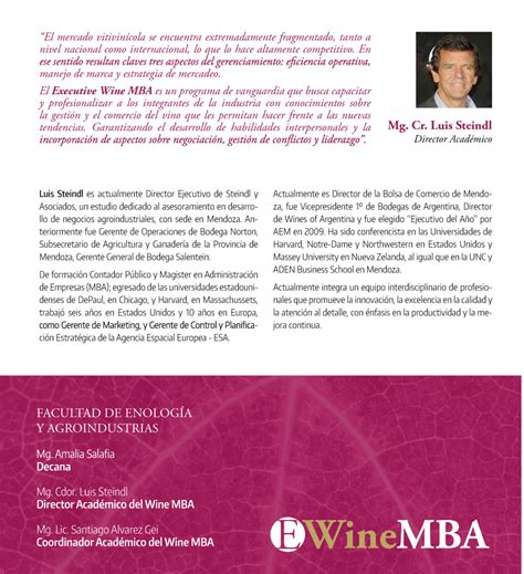 Wine Mba by Universidad Maza Executive Wine Mba