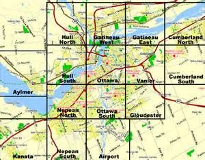 map of ottawa canada and surrounding area ottawa area overview map
