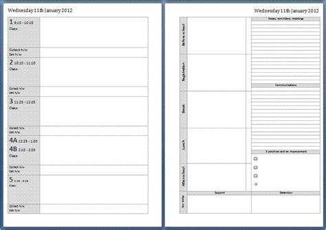 home school diary template my all in one place teachers planner now available