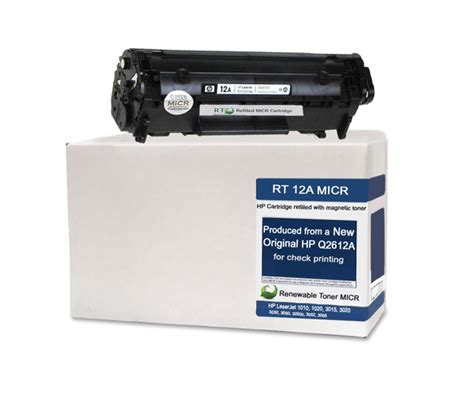 Toner Hp 12a Amazlnk hp 12a q2612a micr cartridge renewable toner