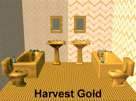 harvest gold bathroom sink mod the sims vintage sanitaryware