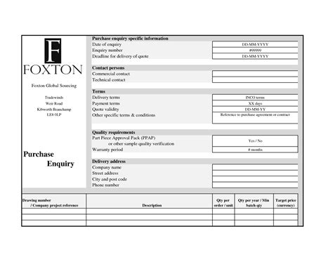 26 Images Of Request For Quotation Template Excel Leseriail Com Request For Quote Template Excel