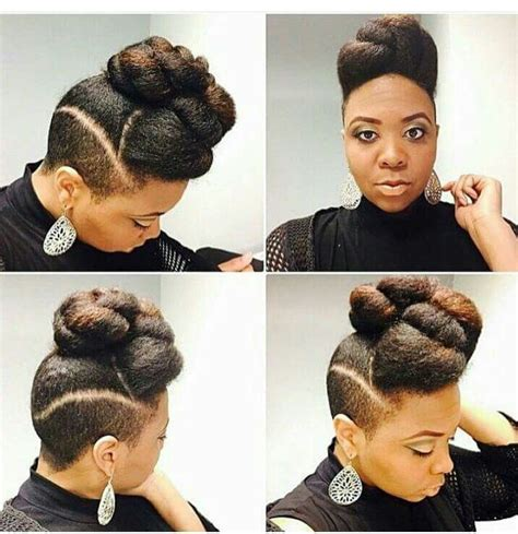 different hairstyles for a shaved side with natural hair updo shaved sides natural hair pinterest shaved