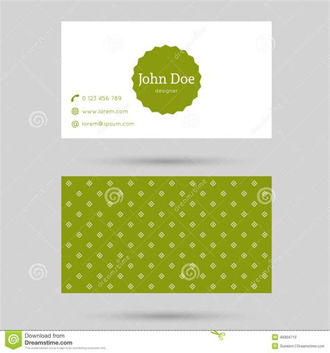trendy business cards templates trendy business card template stock vector image 48304719