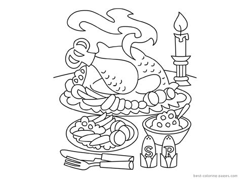 coloring page of thanksgiving dinner 10 images of dinner table coloring page dining room