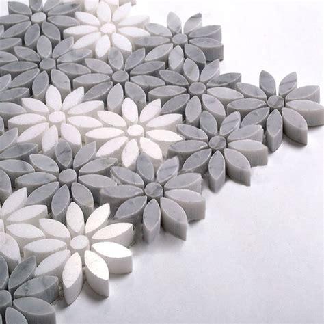 flower design marble fleur water jet marble mosaic tile 12 quot x12 quot